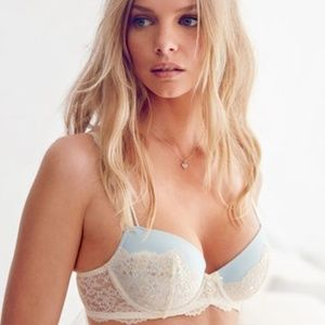 Victoria Secret Demi Lace Strapless Bra